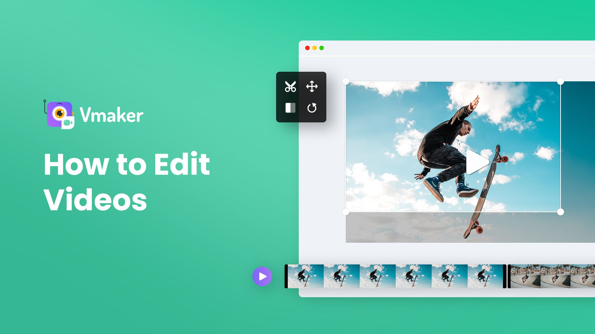 How to edit videos online with Vmaker?