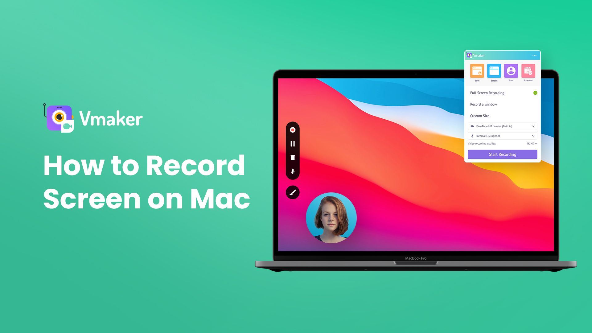 To get started with Vmaker's free screen capture software, watch the video below that shows how to screen capture video on mac.